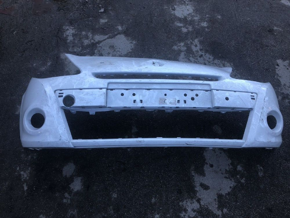 RENAULT CLIO MK3 PH2 185 FRONT BUMPER 2009-2013 GENUINE RENAULT PART WHITE